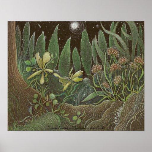 Poster floreciente del arte de la creosota