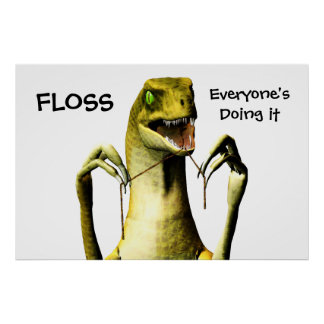 Poster Flossing del dinosaurio