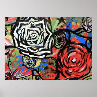 Poster Flower Graffiti