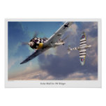 """Poster """"Focke-Wulf Fw 190"""" del arte de la aviación"""