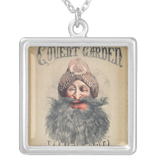 Poster for a Christmas pantomime Square Pendant Necklace