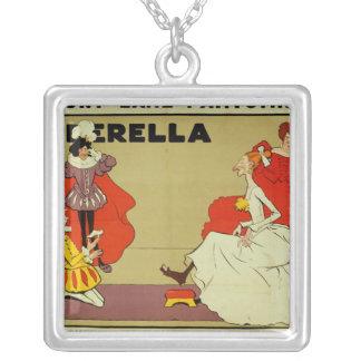 Poster for 'Cinderella' Square Pendant Necklace