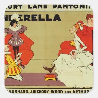 Poster for 'Cinderella' Square Sticker