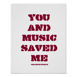 Poster for Framing You and Music Saved Me