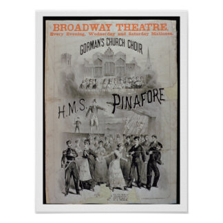 Poster for 'HMS Pinafore', performed by Gorman's C