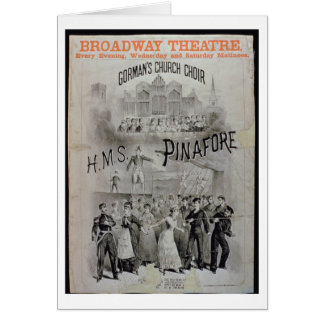 Poster for 'HMS Pinafore', performed by Gorman's C Card