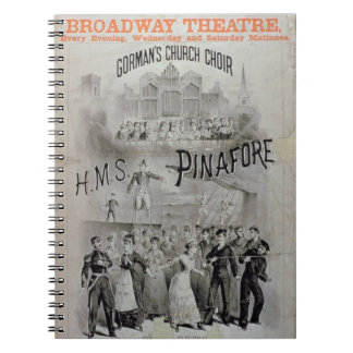 Poster for 'HMS Pinafore', performed by Gorman's C Notebook