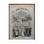 Poster for 'HMS Pinafore', performed by Gorman's C Postcard