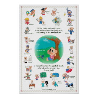 Poster for Kids - Bailey Bear in the Land of I AM