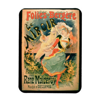 Poster for 'Le Miroir' at the Folies-Bergere, a pa Magnet