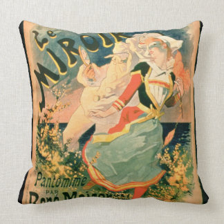 Poster for 'Le Miroir' at the Folies-Bergere, a pa Throw Pillow