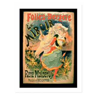 Poster for 'Le Miroir' at the Folies-Bergere, a pa Postcard