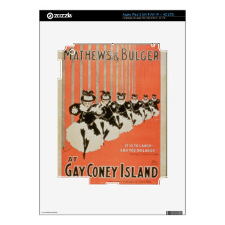 Poster for 'Mathews & Bulger' at Gay Coney Island iPad 3 Decal