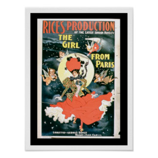 Poster for 'Rice's Production of The Girl from Par