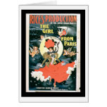 Poster for 'Rice's Production of The Girl from Par Greeting Card