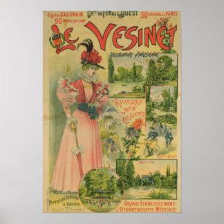 Poster for the Chemins de Fer de to Le Vesinet