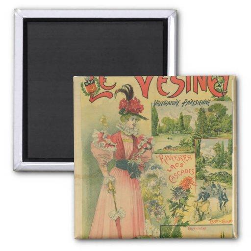 Poster for the Chemins de Fer de to Le Vesinet Magnet