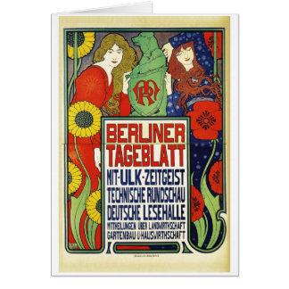 Poster for the newspaper Berliner Tageblatt, 1899 Card