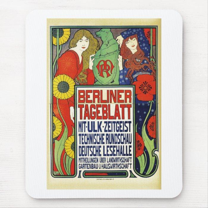 Poster for the newspaper Berliner Tageblatt, 1899 Mouse Pad