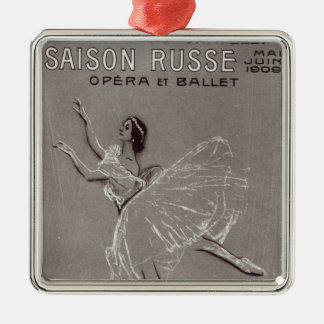 Poster for the 'Saison Russe' Metal Ornament
