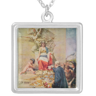 Poster for the Second Loan for National Defence Square Pendant Necklace