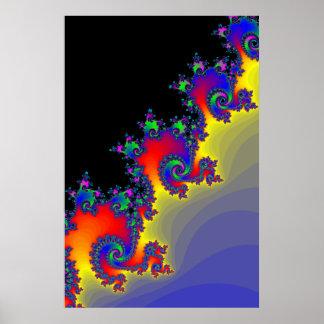 Poster Fractal Spirals