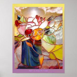 Poster fragante del aniversario de la flor de la
