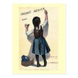 Poster francés 1893 del anuncio del chocolate del tarjeta postal