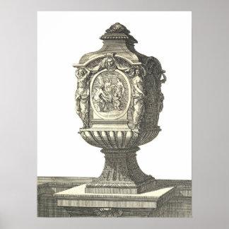 poster francés antiguo de la urna