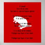 Poster francés blanco del himno del castor del día