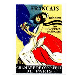 Poster francés de 1920 productos de la compra tarjetas postales