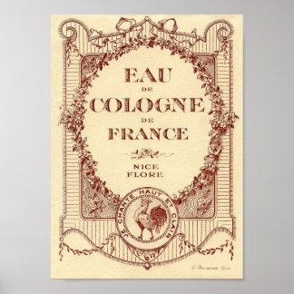 Poster francés de Francia de la etiqueta del anunc