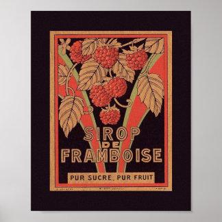 POSTER francés de la etiqueta del JARABE de la Póster
