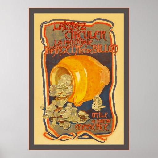 Poster francés de la guerra mundial del vintage 1