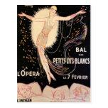 Poster francés de la ópera tarjetas postales