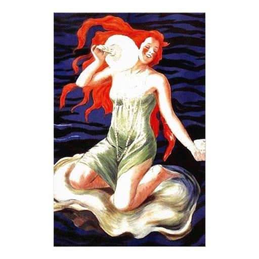 Poster francés de la publicidad de Nouveau del art Papeleria Personalizada
