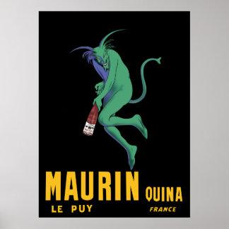 Poster francés de la publicidad del ajenjo de Maur