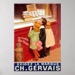 Poster francés de la publicidad del chocolate del