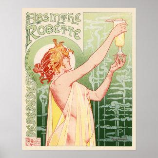 Poster francés de la publicidad del vintage de Rob