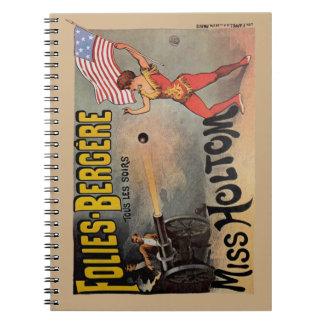 Poster francés del acto secundario de circo del vi libreta espiral