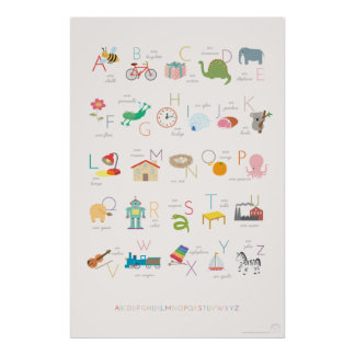 Poster francés del alfabeto