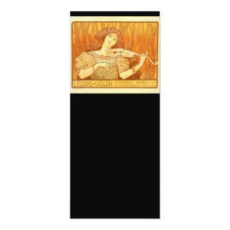 Poster francés del anuncio de las lecciones de invitación 10,1 x 23,5 cm