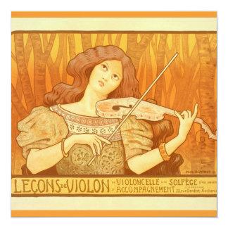 Poster francés del anuncio de las lecciones de
