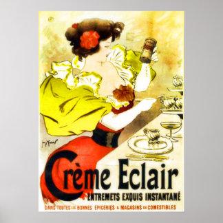 Poster francés del anuncio del postre
