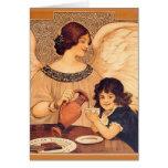 Poster francés del caramelo del vintage del ángel  felicitación
