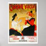 Poster francés del chocolate del vintage póster