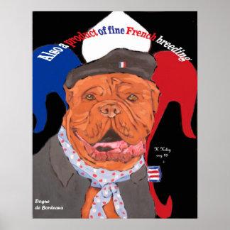 Poster francés del perro de la herencia