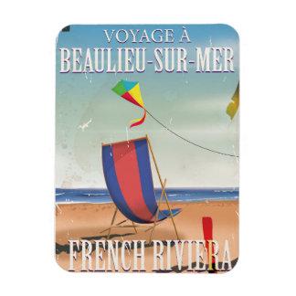Poster francés del viaje del vintage del iman rectangular