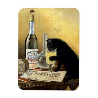 "Poster francés retro ""burgués del ajenjo "" imán de vinilo"