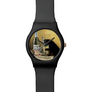 """Poster francés retro """"burgués del ajenjo """" relojes de mano"""